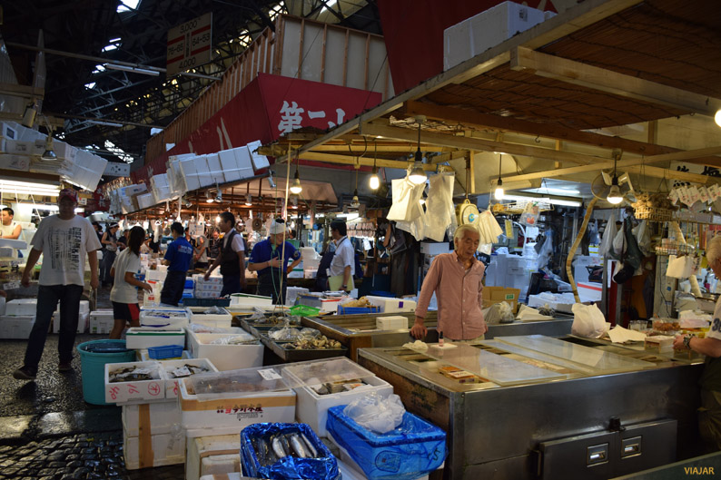 Mercado Tsukiji de Tokio, la mayor lonja de pescado del mundo