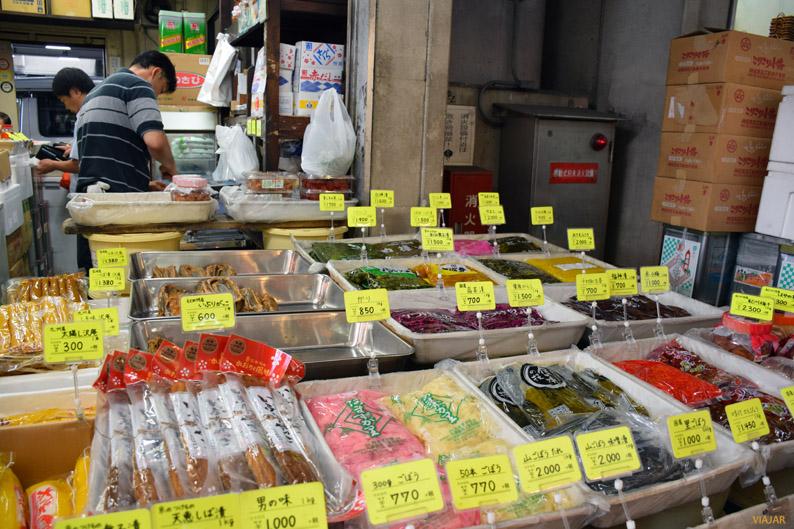 Puesto del mercado exterior de Tsukiji