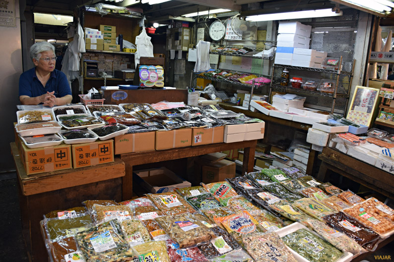 Puesto del mercado interior de Tsukiji