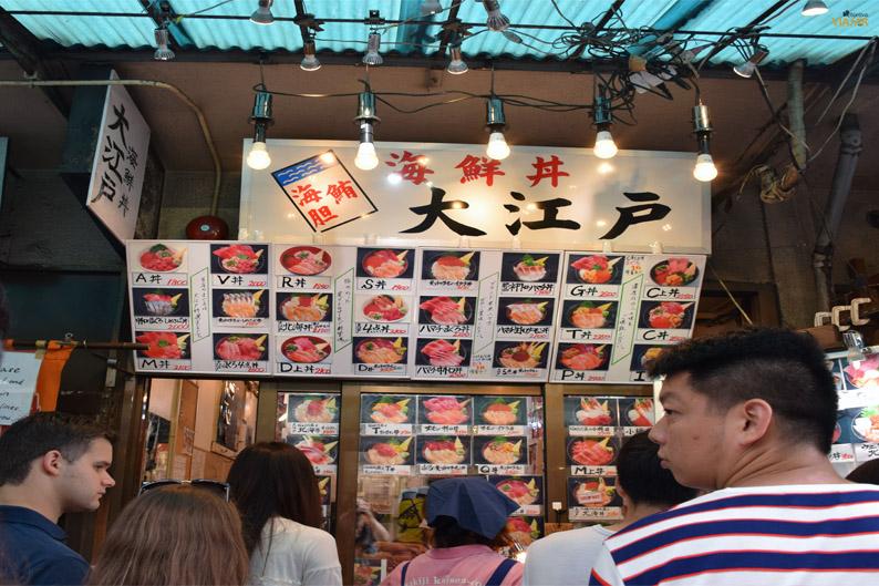 Restaurante en el mercado Tsukiji