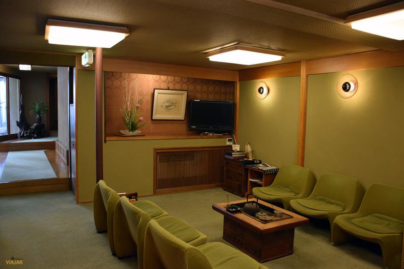Lobby. Murataya Ryokan. Kanazawa, Japón
