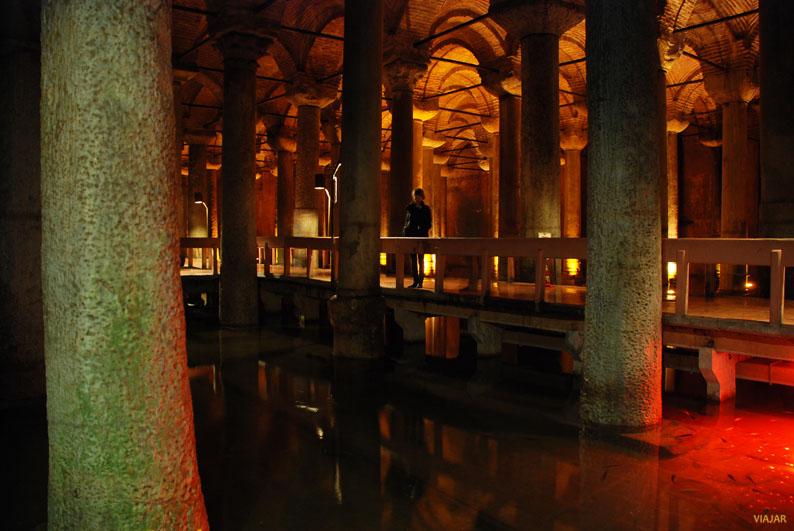 Cisterna Basílica, el palacio sumergido de Sultanahmet. Estambul