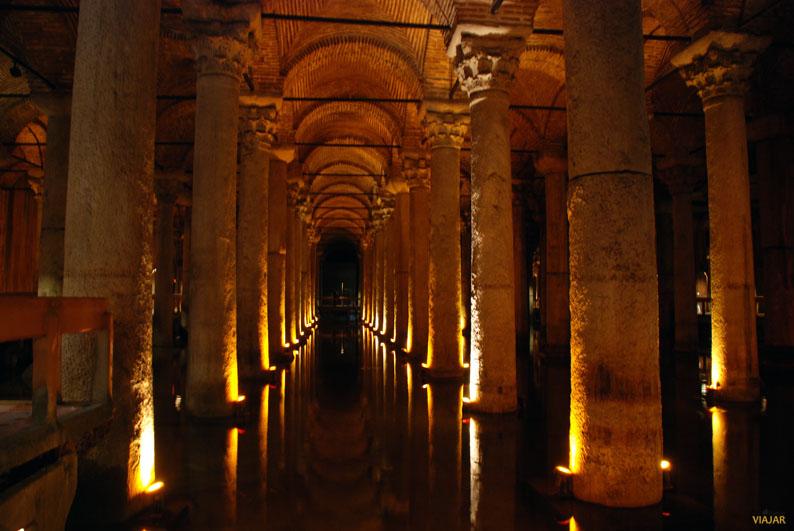 Cisterna Basílica. Sultanahmet. Estambul