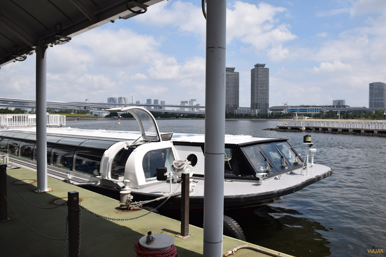 El barco en el que navegué por el río Sumida