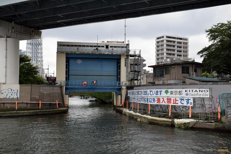 Esclusa del río Sumida. Tokio