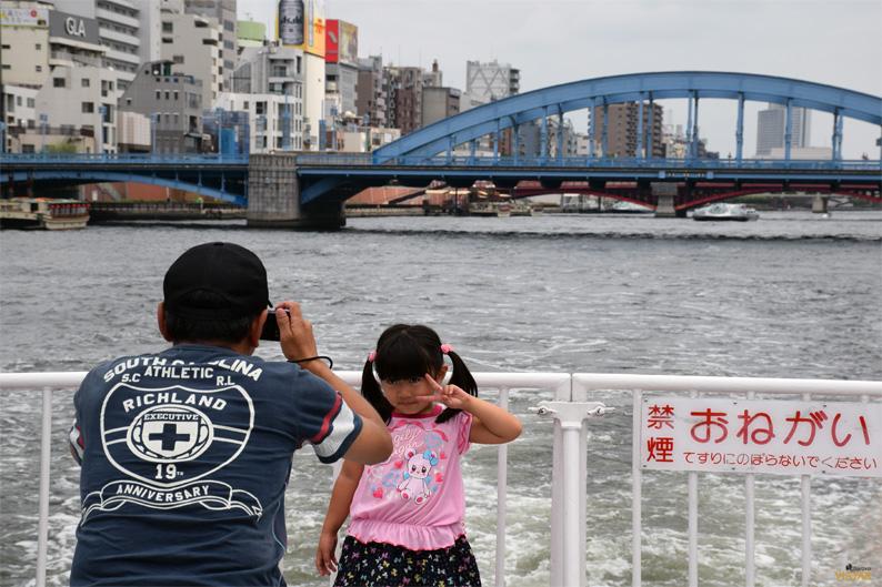 Una foto para el recuerdo. Río Sumida, Tokio