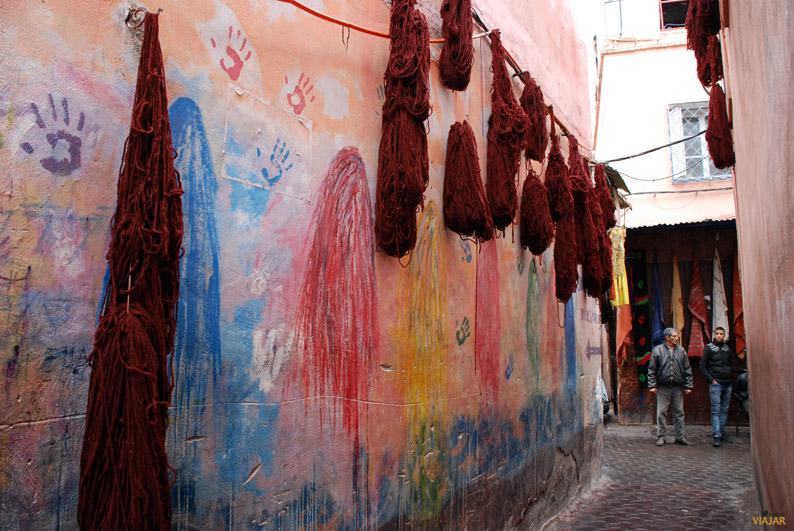 Zoco de los tintoreros. Marrakech