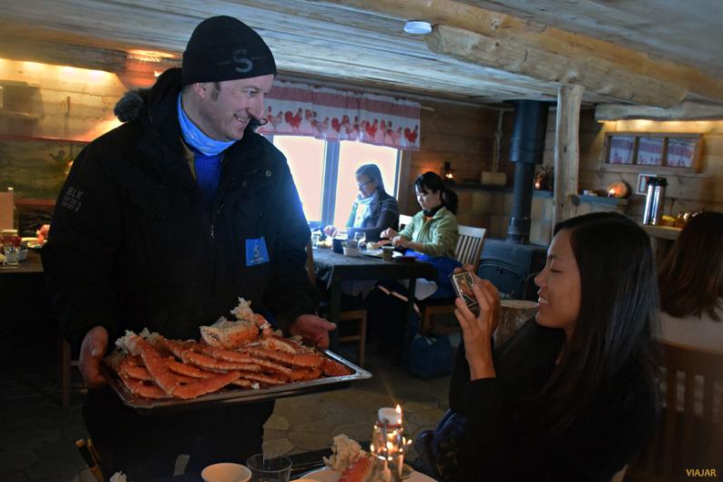 El cangrejo real, un imprescindible de la gastronomía de la Laponia noruega