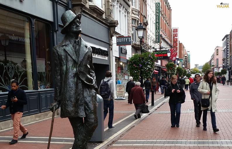 Estatua de James Joyce. Dublín
