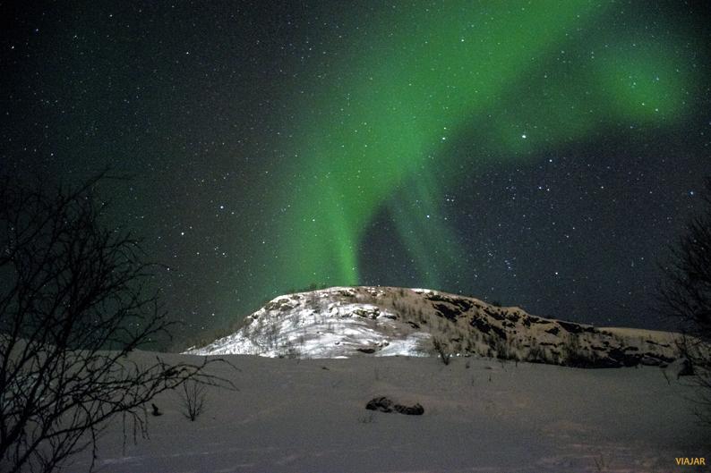 La magia de una aurora boreal. Laponia noruega