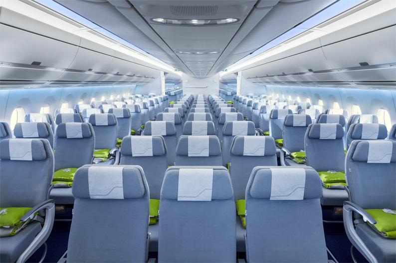 Finnair A350 XWB, clase economy