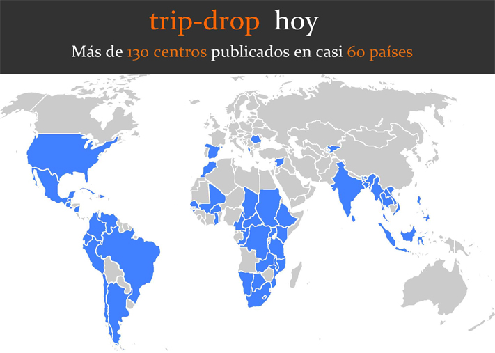 Mapa trip-drop