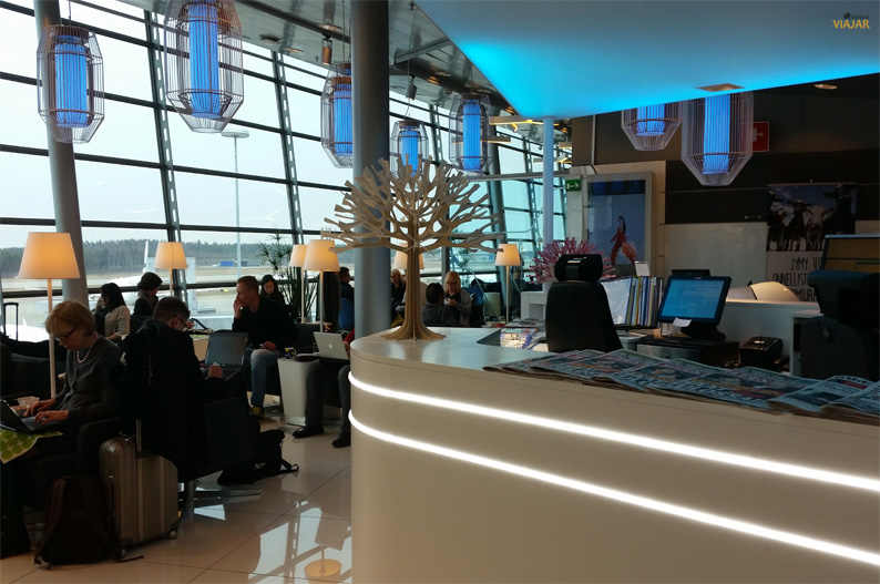 Sala VIP de Finnair. Aeropuerto de Helsinki-Vantaa
