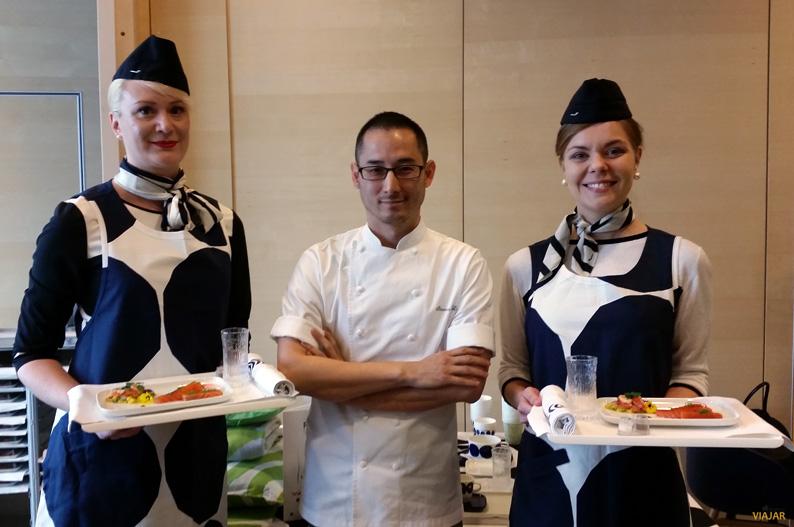 Steven Liu y su menu de autor para Finnair