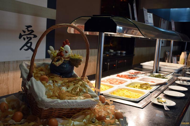 Detalle del buffet de desayuno. Hotel ADH Isla Cristina