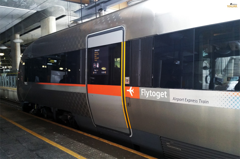 Flytoget Airport Express Train. Oslo