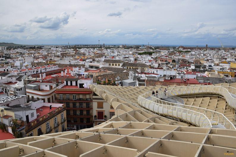 La Isla de la Cartuja desde las Setas de Sevilla