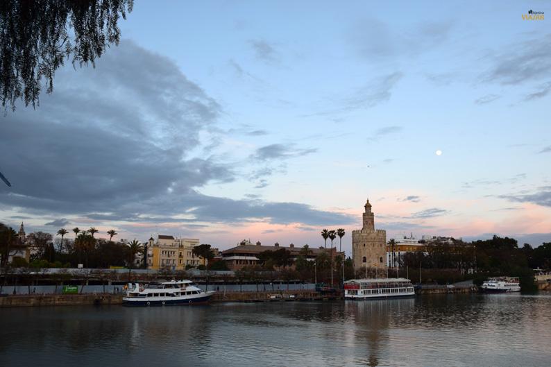 La Torre del Oro y el Guadalquivir. Sevilla