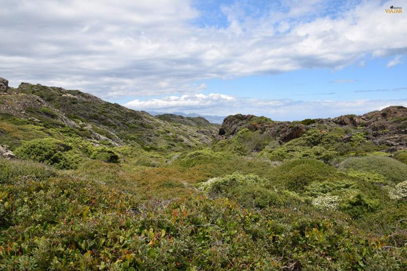 Paisaje de la zona terrestre del Cap de Creus