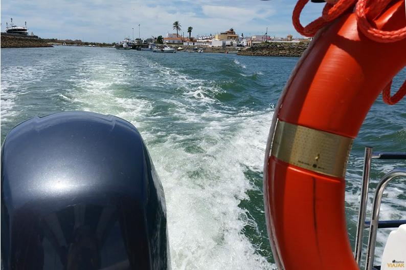 Paseo en barco por la ría Carreras. Isla Cristina