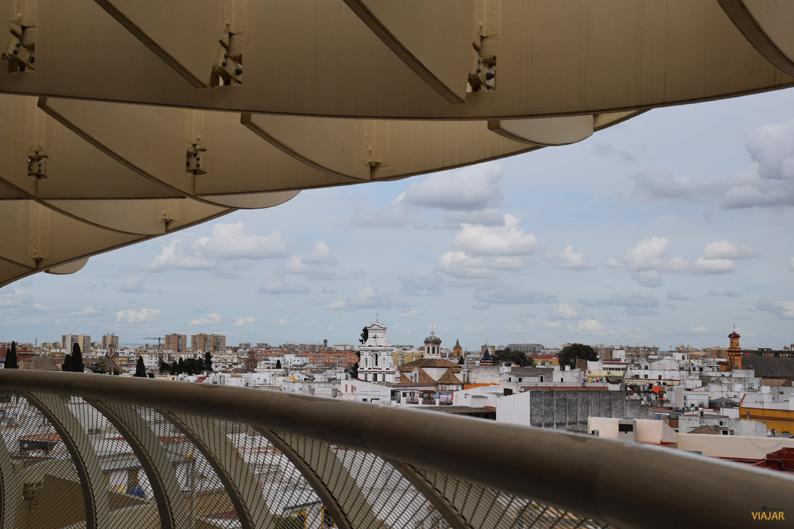 Vistas desde el mirador de las Setas de Sevilla