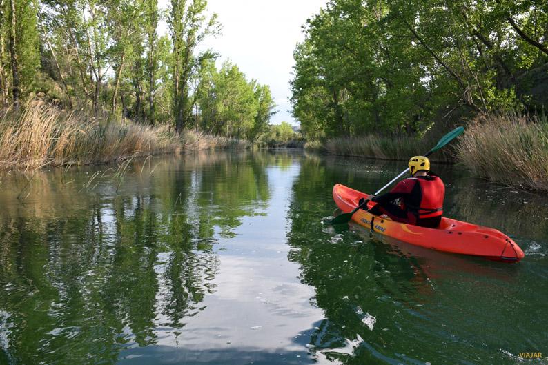 Piragüismo en el río Guadiela. Provincia de Cuenca