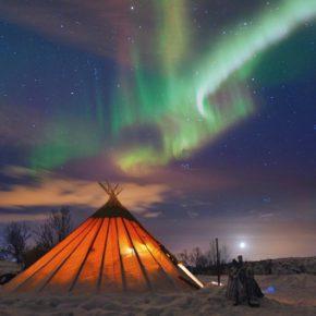 Auroras boreales en la Laponia noruega, en busca de las luces del norte