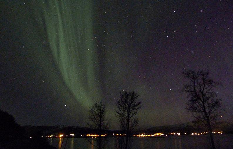 Aurora boreal en la Laponia Noruega. Foto El rincón de Sele