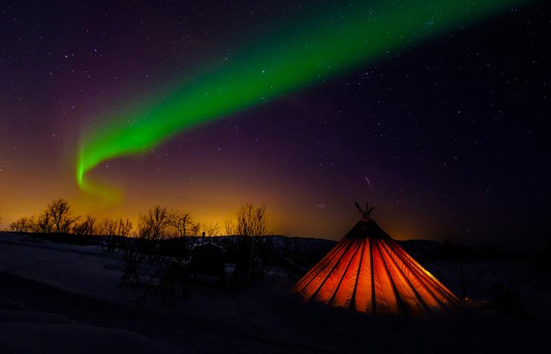 Aurora boreal. Foto Joan Vendrell