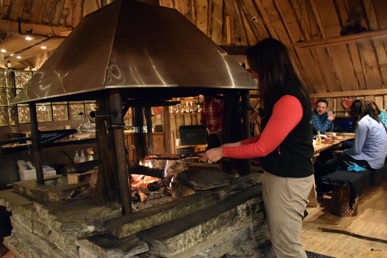 Bienvenida en el restaurante Gabba. Kirkenes Snowhotel