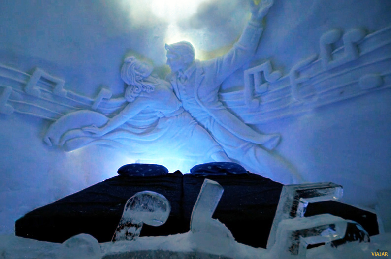 Habitacion del hotel de hielo en Kirkenes