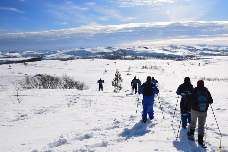 Raquetas de nieve en la Laponia noruega