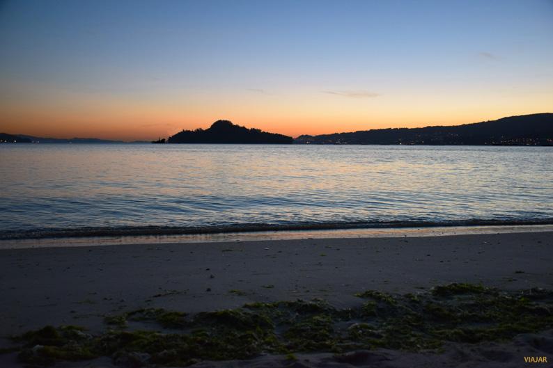 Atardecer en la playa de Lourido. Terras de Pontevedra
