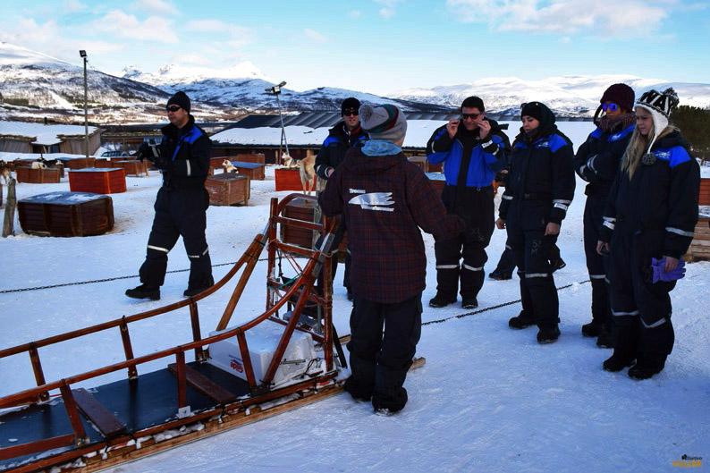 Instrucciones para el manejo de un trineo de perros. Laponia noruega