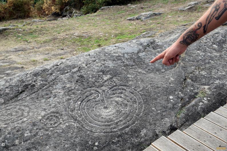 Piedra del Laberinto. Petroglifos de Mogor. Terras de Pontevedra