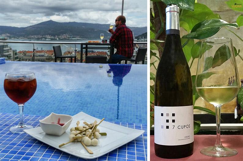 Aperitivo en la terraza del Hotel Axis y Ribeiro 7 Cupos en el restaurante Palo Palo. Vigo