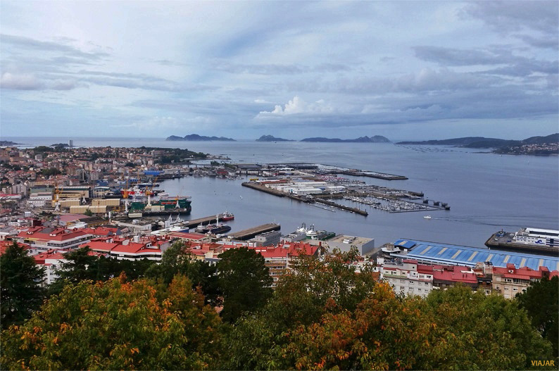La ría de Vigo desde el Monte O Castro
