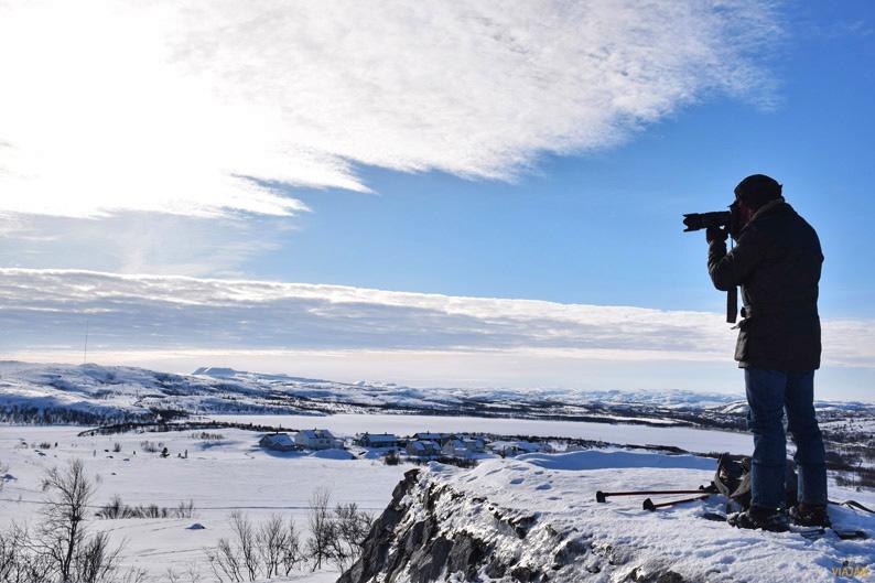 Excursión con raquetas de nieve. Laponia Noruega