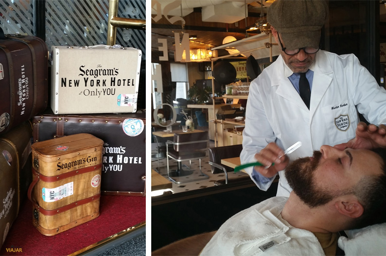 La barbería The NY Saving Company en el Seagram's New York Hotel at Only YOU