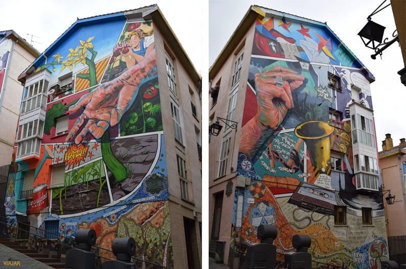 Conjunto muralístico Eskuz Esku. Murales de Vitoria-Gasteiz