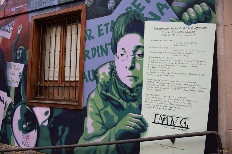 Detalle de La luz de la Esperanza. Murales de Vitoria-Gasteiz