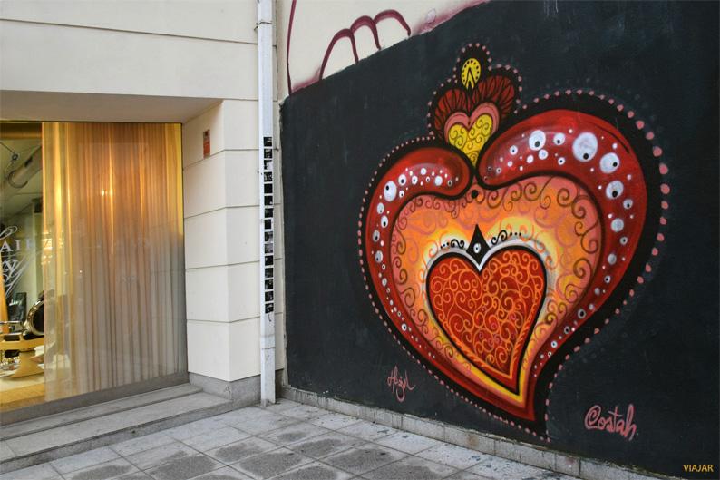 El corazón de Viana. Street art en Oporto
