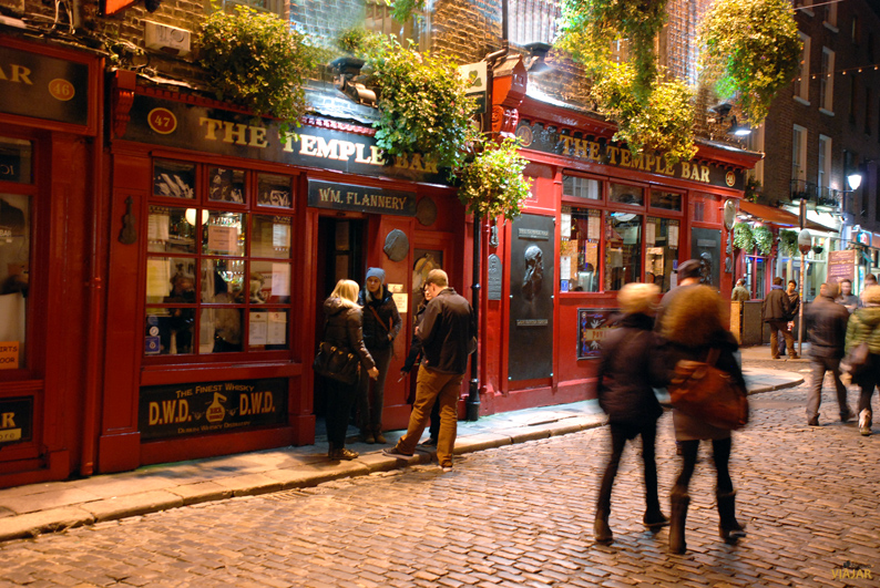 The Temple Bar. Dublín. Irlanda