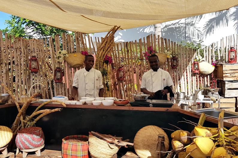 Clase de cocina suajili. Hotel Essque Zalu Zanzibar