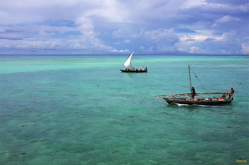 El oceano Indico a los pies del Hotel Essque Zalu Zanzibar