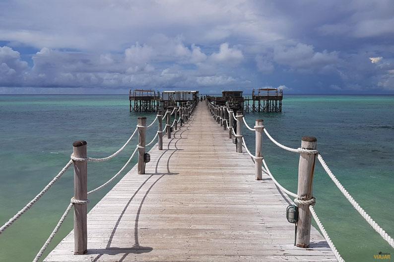 Embarcadero del hotel Essque Zalu Zanzibar