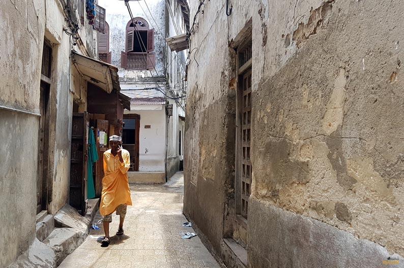 Calle de Stone Town. Zanzibar