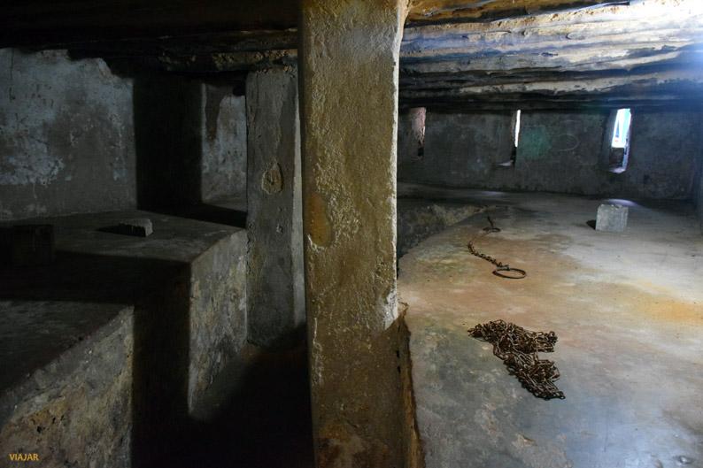 Celdas del antiguo mercado de esclavos. Que visitar en Stone Town. Zanzibar