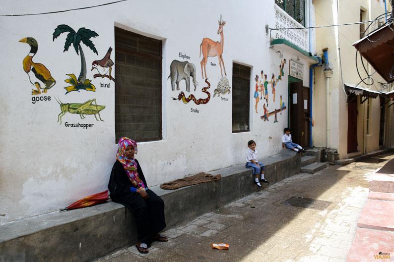 Escuela infantil. Stone Town. Zanzibar