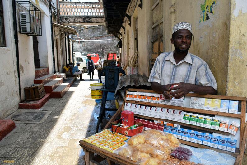 Vendedor. Stone Town. Zanzibar
